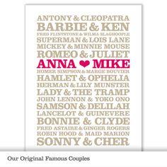 Original Famous Couples