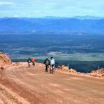Biking down Pikes Peak ... looks like a great trip!