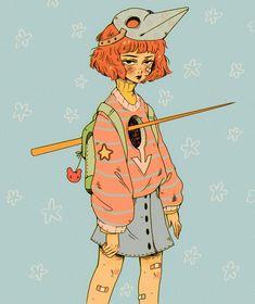 by ukairuu Yesterday was dramatic-today is ok // 🌸 . Character Art, Character Design, Stoner Art, Cute Art Styles, Hippie Art, Beautiful Drawings, Art Challenge, Art Sketchbook, Art Inspo