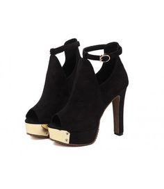 #Black #Platform #OpenToe #GoldTip #Suede #AnkleBoots £34.99 @ ShanghaiTrends.co.uk  /  http://shanghaitrends.co.uk/black-platform-open-toe-gold-tip-suede-ankle-boots
