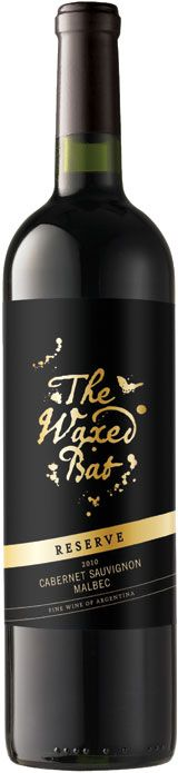 """The Waxed Bat Reserve 2010 - Zagat Wine """"Handpicking the ripest Cabernet Sauvignon and Malbec from his favorite vineyard, Opi gave the super-concentrated juice a 12-month slumber in fine oak barrels. This has a lovely deep red color. Then harmonious aromas and flavors of ripe blackberry and plum, backed by attractive smoke and vanilla notes. A serious steak red."""""""