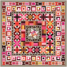 Risultati immagini per aviatrix medallion quilt kit Sampler Quilts, Star Quilts, Scrappy Quilts, Quilt Blocks, Mini Quilts, Quilting Projects, Quilting Designs, Quilting Ideas, Elizabeth Hartman Quilts