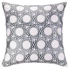 Oxford Gray Embroidered Pillow @Zinc_Door
