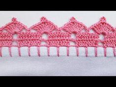 Crochet Edging Tutorial, Crochet Border Patterns, Baby Knitting Patterns, Crochet Designs, Crochet Stitches, Cross Stitch Patterns, Crochet Home, Knit Crochet, Crochet Cupcake