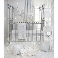 Create a serene, soothing atmosphere for your little bundle of joy with Glenna Jean's chic Heaven Sent collection. The 3-Piece Crib Bedding Set includes a cherub-print quilt and crib sheet, and a crushed ivory satin taffeta crib skirt.