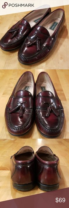63cd8b89497 Cole HAAN Mens Dress Shoes Loafers EUC size 10.5 Warm burgundy leather Cole  Haan dress shoes