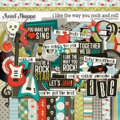 I Like the Way You Rock and Roll  | Sweet Shoppe Designs, Shawna Clingerman