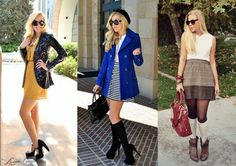 3 colors for fall: mustard, cobalt blue, and oxblood