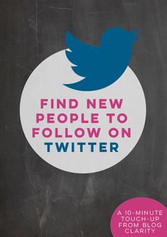 Finding new people to follow on Twitter will help grow your Twitter following. Plus, it never hurts to follow new , interesting people on Twitter! Social Media Tips, Social Media Marketing, Facebook Marketing, How To Start A Blog Wordpress, Twitter Tips, Twitter Twitter, Twitter For Business, Google Plus, Twitter Followers