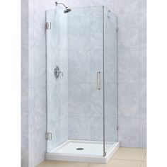 DreamLine Radiance 30 x 30 Frameless Hinged Shower Enclosure | Overstock™ Shopping - Big Discounts on DreamLine Shower Doors