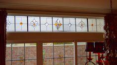 Fleur De Lis Color design. #transom #home decor #artsy #beautiful #custom-made #creative #elegant #window #stained glass
