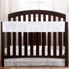 Breathable Baby RailGuard Mesh Crib Rail Cover, White