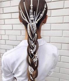 32 Beautiful Wedding Hairstyles – The Glossychic – Hair Accessories Diy 2020 Sleek Hairstyles, Braided Hairstyles, Wedding Hairstyles, Beautiful Hairstyles, Braided Locs, Dance Hairstyles, Natural Hair Styles, Long Hair Styles, Wedding Hair Accessories