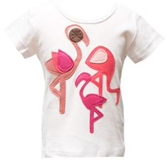 "Decaf Plush ""Flamingo"" Bodysuit or T-Shirt"
