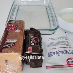 Bazen çok basit ama lezzetli tariflere ihtiyacimiz da var Fırında pişmeyen hızlıca yapıp misafir gelene kadar dinlendirsek tamamdır ♀️♀️ Yapıp ikram ettiğim herkesin çok beğendiği pratik pasta tarifim geliyor ama sizler videoma ❤ bırakmayı unutmazsınız değil mi ❣❣ BİSKÜVİLİ ETİMEK PASTASI 2 paket tuzsuz etimek 2 paket kakaolu bisküvi Etimekleri ve bisküvileri ıslatmak için; 1 su bardağı süt 2 yemek kaşığı toz şeker Muhallebisi için; 3 s