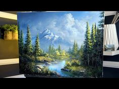 A CLASSIC MOUNTAIN Painting in OILS - Paint with Kevin® This week I painted a classic landscape with a distant mountain, evergreen trees, and foreground lake. I hope you enjoy it! Canvas Painting Tutorials, Painting Lessons, Painting Tips, Painting Art, Orlando Floride, Kevin Hill Paintings, Western Landscape, Chinese Landscape, Abstract Oil