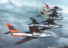 """The """"Getti Tonanti"""" (Thunder Jets) were an Italian Air Force aerobatic display team.The team was created in 1959 at Rimini airbase from the 5th Aerobrigata and flew F-84F """"Thunderstreak"""" fighters and existed until 1960.Getti Tonanti aerobaticteam also took part in the ..."""