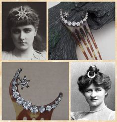 Victorian hair comb crescent moon and star by ElrondsEmporium