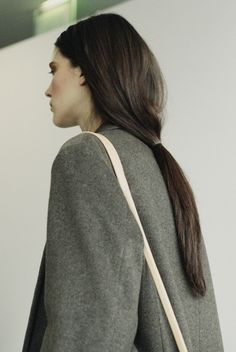 Grey coat - perfect hair