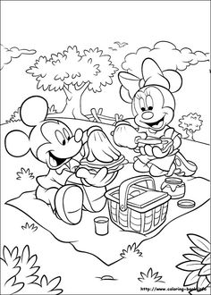 Mickey coloring picture