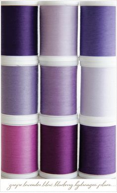 I love all of these shades of purple, they go so beautifully together.  :. via A Creative Mint