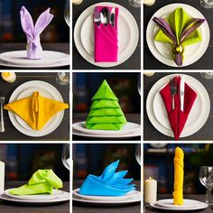 Fun ways to fold the perfect holiday napkins. Diy Crafts Hacks, Diy Crafts For Gifts, Diy Home Crafts, Arts And Crafts, Paper Crafts, 5 Minute Crafts, Christmas Crafts, Napkins, Creations