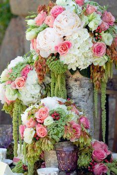 Peonies, Succulents & Roses