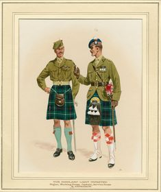 The Highland Light Infantry, Major Working Dress, Captain Service Dress by Douglas N. Military Uniforms, Military Art, Military History, British Army Uniform, British Uniforms, Scottish Dress, Scottish Fashion, Scottish Warrior, Army Post