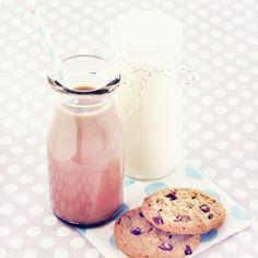 Minnie Glass Milk Bottles w/lids for milk or salad dressing