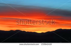 sunset over the front range as seen from Broomfield,  colorado