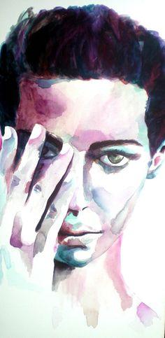 Toile portrait femme 100x60 cm