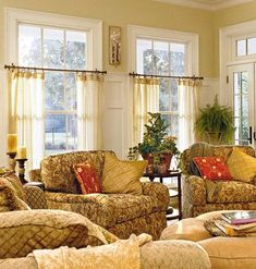 Sunny Room With Fitted Draperies
