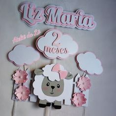 Diy Cake Topper, Cupcake Toppers, Cricut Cake, Cherry On Top, Christening, Photo Booth, Diy And Crafts, Scrapbook, Silhouette