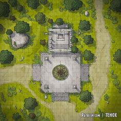 dnd map woods maps fantasy forest temple road trail rpg wilderness patreon dungeon deciduous landscapes maker
