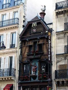 McDonald's, rue Saint-Lazare /\/\cDonald's Paris Saint-Lazare 119 Rue Saint-Lazare 75008 PARIS Tél: Featuring: Store 0666 Date of opening: unknown (mid Paris Travel, France Travel, Places Around The World, Around The Worlds, Paris City, Paris Saint, Beautiful Architecture, Photos, Pictures