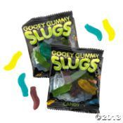 Gooey Gummy Slugs Candy Fun Packs at Oriental Trading - Tricks and Treats for the Little Ghouls in Your Life {Faith, Hope, Love, & Luck Survive Despite a Whiskered Accomplice} - #Halloween #Tricks #Treats #Kids #Printables #Bengal #Cat