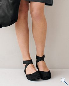 Ballet Flats - legit because they look like you tie them like real ballet pointe shoes :) want
