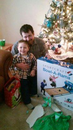 Brandon and Daddy Christmas 2014