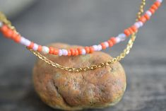 Beach Anklets, Amethyst Bracelet, Cord Bracelets, Gold Chains, Seed Beads, Orange, Awesome, Etsy, Pearl Jewelry
