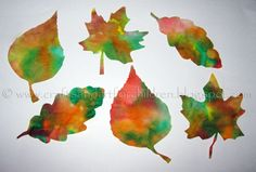 Coffee Filter Leaf Suncatchers - fall craft for kids