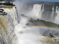 The view of Iguazu Falls from the Brazil side
