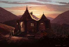 Hagrid's Hut concept art for Harry Potter and the Prisoner of Azkaban by Adam Brockbank Fanart Harry Potter, Saga Harry Potter, Harry Potter Artwork, Harry Potter Illustrations, James Potter, Harry Potter Universal, Harry Potter Movies, Harry Potter World, Geeks