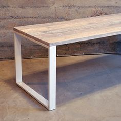 White Wash Oak Table - by union wood supply company in vancouver.