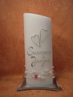 Hochzeitskerze 401 von KerzenundGeschenke auf DaWanda.com