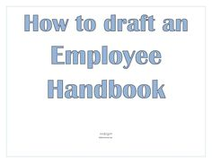 ReasonS To Have An Employee Handbook  Employee Handbook Examples