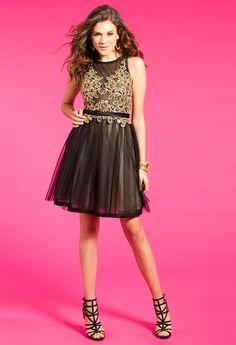4f1414fcc1e Illusion Corset Dress With Godets  camillelavie