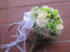 Dekorácie - kytica svadobná-gratulačná  - 6325048_