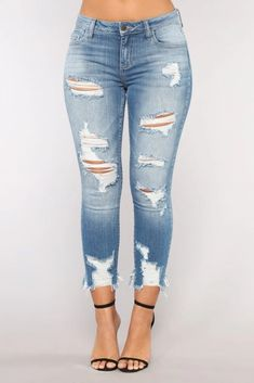 New Jeans Outfit Casual jeans and shirt suede pants – fashion nova jeans Holey Jeans, Cute Ripped Jeans, Ripped Boyfriend Jeans, Ankle Jeans, Skinny Jeans, Jeans Pants, Best Jeans For Women, Pants For Women, Casual Jeans