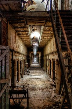 Eastern State Penitentiary Philadelphia PA--I think I'll go here to this year....I seriously love Halloween and scary stuff in general...I'm a freak lol