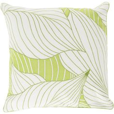 Dressed up in a retro-inspired leaf print, this colorful pillow brings breezy island style to any space.Product: Pillow